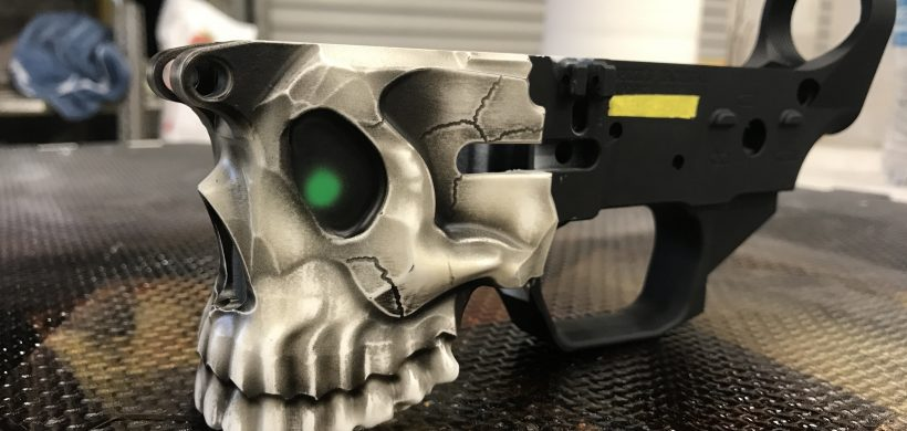 Airbrushed Lower for AR-15